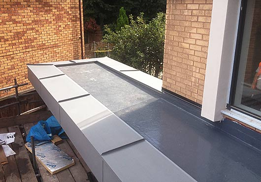 zinc roofing project